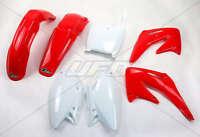 Kit plastiques UFO Origine (blanc / rouge) Honda CRF 450 2002 2003