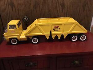"""Vintage Tonka Bottom Dump Gas Turbine Truck 1960's Pressed Steel Good Cond. 25""""."""