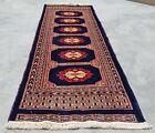 Hand knotted Vintage Pakistan Bokhara Jhaldar Wool Area Rug 4 x 2 Ft (11826 KBN)