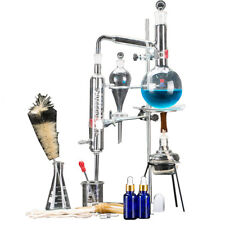 New 500ml Lab Distillation Apparatus Essential Oil Pure Water Glassware Kits