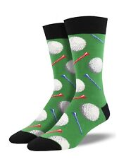 Green Socksmith Mens Boys Golf Golfer Novelty Gift Golfing Socks Tee Tees Xmas