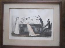 "JEAN VEBER-LITHOGRAPHIE ""LE CONCERT KOECHLIN"" 1908- SIGNEE ET NUMEROTEE"