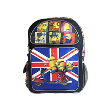 "Despicable Me Uk Minions Large School Backpack 16"" Book Bag ob Kevin Stewart"