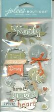 FAMILY Home Hearth Together Heart Love Hand-me-down Jolee's Stickers