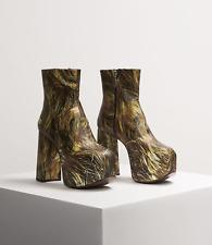 Naomi Platform Chunky Boots Hair Print Vivienne Westwood