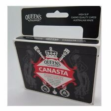 4x Canasta Playing Cards Queen's SLIPPER Double Deck Casino Quality Plastic Coat