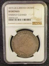 1819 LIX CROWN - GEORGE III BRITISH SILVER COIN - NGC XF Detais