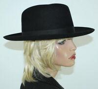 Vintage Men's STETSON Black Fur Felt Fedora Hat Size 7 1/2 - Union Label