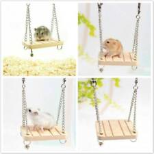 Wooden Pet Hamster Hanging Swing Parrot Rats Small Birds Exercise Play Toy LG