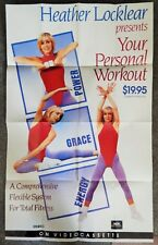 HEATHER LOCKLEAR (VIDEO DEALER 24 X 36 POSTER!, 1990) YOUR PERSONAL WORKOUT