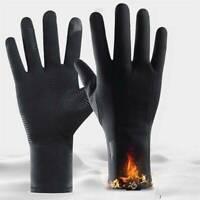 UK Winter Warm Windproof Waterproof Anti-slip Thermal Touch Screen Gloves Black