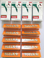 4 x SWAN MENTHOL EXTRA SLIM FILTER Tips with 10 x RIZLA LIQUORICE ROLLING PAPERS