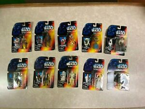 10 Star Wars 3.75 Orange Power Of The Force Action Figure Collection LOT NIP