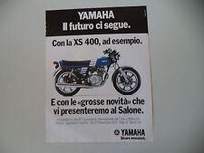 advertising Pubblicità 1977 MOTO YAMHA XS 400