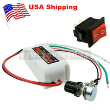 New DC12V PWM Motor Speed Control Controllor For Fan Pump Oven Blower+ Switch US