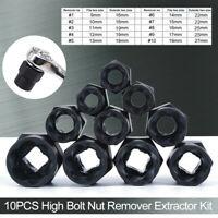 10PCS Damaged Nut Bolt Remover Stud Extractor Set Screw Broken Removal