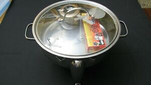 Gourmet Buffet 4 Qt Chafing Dish Stainless Steel Warming Tray W 2 Can Gel Fuel
