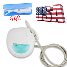 Dental Portable Ultrasonic Piezo Scaler Cleaning Handpiece Fit EMS 4 Tips +Floss