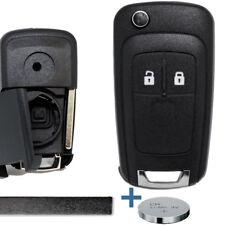 Llaves del auto plegable carcasa llave Opel Astra J corsa Adam meriva + batería
