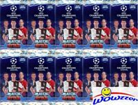 (10) 2019/20 Topps Match Attax Champions League Soccer Sealed Packs-60 Cards