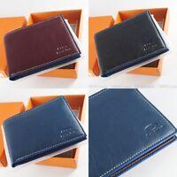 Italian Premium Brand Men's Genuine Leather Wallet 3 Color Russia