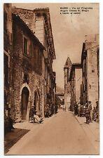BUSSI SUL TIRINO PESCARA VIA PROGRESSO CHIESA S BIAGIO CARTOLINA ANIMATA 1920/30