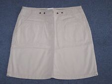 New Look Womens ladies short casual stone beige skirt size 8