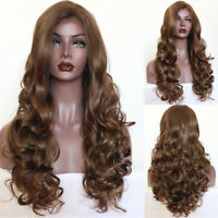 Fashion Synthetic Lace Front wig #10 Brown Lace Hair Wigs Body Wave Baby Hair