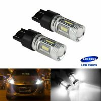 LOT 2 AMPOULES 580 7443 W21/5W  LED 15W BLANC LAMPE PHARE FEUX TURNING