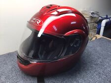 ZR 1  Eclipse MotorCycle Helmet. Full Face, Bright Candy Apple Red