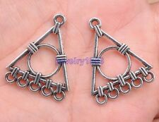 10pcs Tibetan Silver Charm Triangle Earring Connectors 27X24MM F107