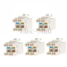 5x Cat 6 RJ45 8P8C Punchdown Keystone Modular Ethernet Snap-in Jack Network New