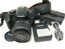 Canon EOS 450D 12.2MP Digital Camera, Battery Grip & 18-55mm f/3.5-5 Lens-Used