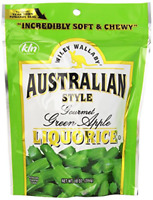 Wiley Wallaby Australian Style Gourmet Licorice, Green Apple, 10 Ounce Bag