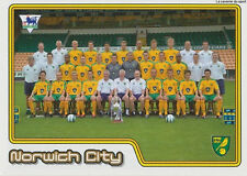 N°436 TEAM EQUIPE NORWICH CITY.FC STICKER MERLIN PREMIER LEAGUE 2005