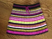 EUC MISSONI for Target Sz L Girls Striped Pleated Knitted Skirt 10 11 12 Large