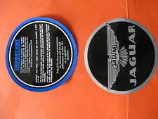 JAGUAR XK120 XK140 XK150 MK I MK7 MK8 MK9 BLUE 2-SIDED RUN-IN INSTRUCTIONS DECAL