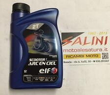 olio miscela 2 Tempi ELF SCOOTER 2 ARC EN CIEL ( 1 litro ) semi - sintetico