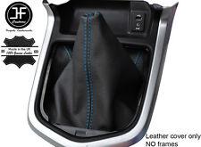 Azul Cuero Cosido Manual Gear gaiter se ajusta Navara NP300 D23 2015-2017