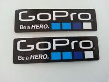 GOPRO Aufkleber Set 2 Stk. schwarz Actionkamera Patch Go Pro