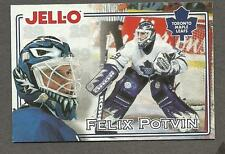 1995-96 Kraft Jell-O Crease-Keepers, Toronto Maple Leafs' Felix Potvin
