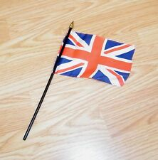 Hand Held United Kingdom UK Great Britain Union Flag on Wooden Stick **READ**