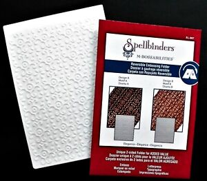 "SPELLBINDERS M-BOSSABILITIES REVERSIBLE 2 IN 1 EMBOSSING FOLDER ELEGANCE 5"" X 7"""