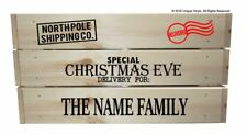 Personalised Christmas Eve Delivery Crate, Box, Sticker set DIY Xmas Hamper/Gift