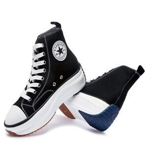 Baskets sneakers compensées à lacets noir black femme Wedge heel laces platform