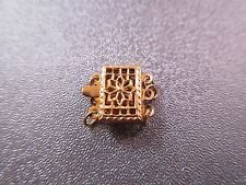 14K Gold Filled 3 Strand Rectangle Filigree Box Clasp 1pc