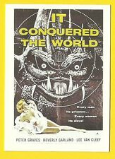 It Conquered the World Lee Van Cleef Ackerman Science Fiction Movie Card