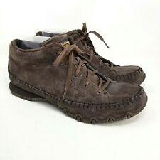 Skechers 10 Brown Memory Foam Ankle Bootie Shoe Leather Upper Faux Fur walking