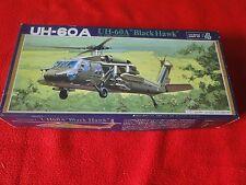 Vintage Rare Plastic Model Helicopter Fujimi UH-60A Black Hawk
