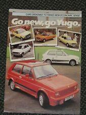 Zastava Yugo 1985 UK Sales Leaflet Brochure 45 311 413 513 L GL GLS 3 4 5 series